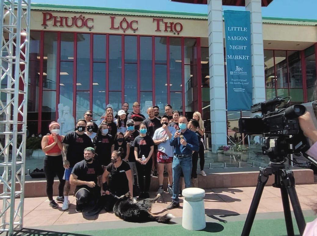 Seniors Fight Back team on local news